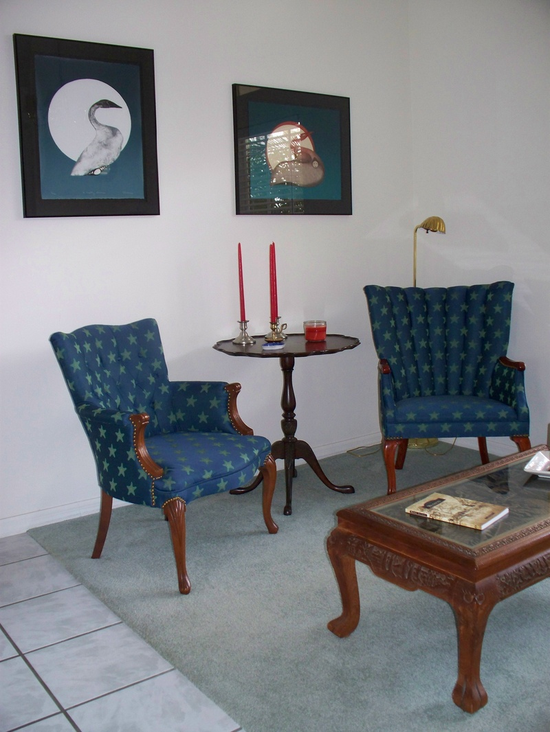 Small Upholstered Furniture. My Customer Inherited The 2 Chairs From An  Eldery Aunt And Wanted Them Restored.