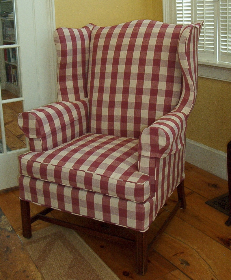 Superbe Buffalo Check On An Old Wing Chair